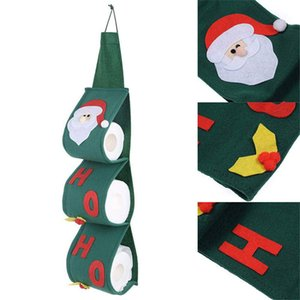 Christmas Pendant Santa Claus Tissue Set Covers Chrimas Decoration Party Paper Towel sets Bedroom door hanging pumping bag