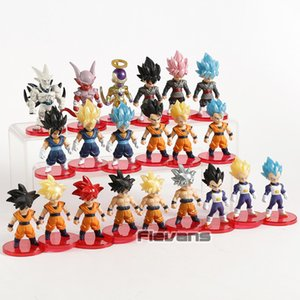 Dragon Ball Z Super Saiyan Son Goku Gohan Vegeta Vegetto Syn Shenron Freeza Janemba Mini PVC Figures Toys 21pcs set MX191105