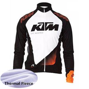 الرجال ktm فريق الدراجات جيرسي 2019 فريق الشتاء الحراري الصوف طويلة الأكمام mtb دراجة قميص دافئ دراجة الملابس في الرياضة موحدة 53133