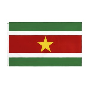 Suriname Flag 3x5ft Hot Selling Cheap Price Good Quality SUR Country National Flag Banner 0.9x1.5m, free shipping