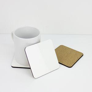 Sublimazione Coaster vuoto di legno Table Mats MDF Isolamento termico Pad a trasferimento termico per fai da te Lover A03
