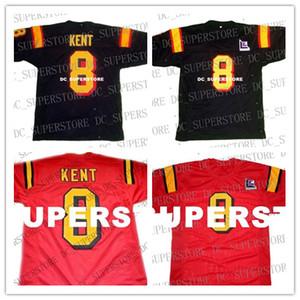 PERSONALIZADO Clark Kent # 8 Superman Smallville Película New Football Jersey Negro Cosido cualquier nombre de nombre HOMBRES MUJERES JÓVENES Fútbol JERSEY