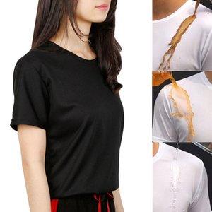Solido Colore unisex anti-sporco rapida asciugatura manica corta T-Shirt impermeabile superiore Nuovo Chic economici Trainning Esercizio T-shirt