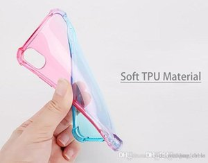 Diagonal Gradient Colors Anti Shock Airbag Soft Clear Cases For iPhone XR XS MAX 8 7 Plus 6 6S High Quality Newest Arrival Cradle Design