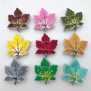 9 Colorful Leaf Fully Embroidered Iron On Applique Patch for cloth garment sew on craft comsume