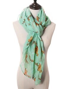 2019 New Cute Crane Print Scarves Shawls Flamingo Print Scarf Wraps Women Animal Foulard 6 Color Wholesale 10pcs LOT Free Shipping