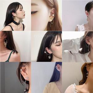 MWsonya Nouvelle version coréenne géométrique strass clip oreille Boucle d'oreille Femme Bonbon élégant Boucles d'oreilles Bijoux Accessoires Cadeau
