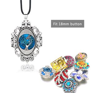 Fashion Interchangeable Flower Crown Ginger Necklace 054 Fit 18mm Snap Button Pendant Necklace Charm Jewelry For Women Gift