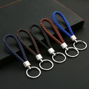 Key Chain corda intrecciata multi colori Cuoio borsa del pendente di chiave del supporto della catena auto portachiavi Uomini Donne Woven Keychain del metallo DH01011 T03