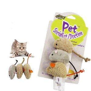 AsyPets 3Pcs Pet Cat Bearing Toy Plush High Simulado Ratoncito Ratón Ocultar y buscar Juego Props-20