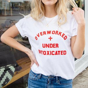 Summer Casual Short-sleeved T-shirt Women Fashion Letter Printing Fashion Beach Sports Tshirt Plus Size Yoga Gym Fitness Tee Top