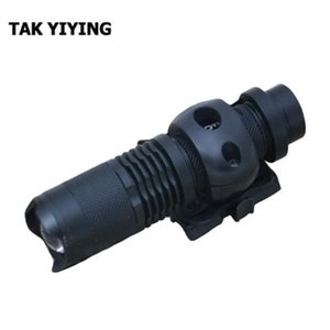 "TAK YIYING Paintball táctico del casco individual Clamp 1"" 25.4mm Montaje W / Mini Negro T6 LED"