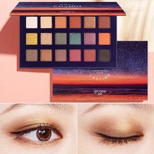 Sıcak 18 Renkler Mat Göz Farı Sunset Renk Glam Starry Sky Göz Gölge Plaka Glitter Işıltılı Göz Farı Makyaj Palettee