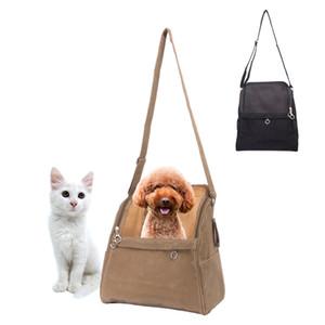 المحمولة السفر الكلب الناقل حقيبة أسلوب بسيط البني تنفس الكلب حقيبة للكلاب الصغيرة ماركة عالية الجودة الفاخرة الكلب الناقلات Y19061901