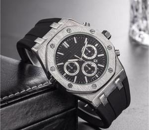 Relógio de luxo cronógrafo do vintage perpétuo paul newman japonês de quartzo de aço de silicone dos homens dos homens relógios de pulso relógios