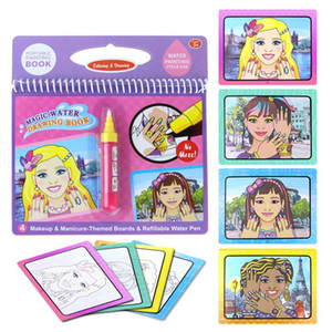 New Coloring Book Magic Water Drawing Book With Doodle Painting Drawing Board 8 Color Water Painting Toys For Children