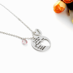 Daddy Dad Necklaces Loss Memory I Used To Be His Hes Mine Love Pendant Necklace Gifts for Dad or Daughter Family ExquisiteNecklace