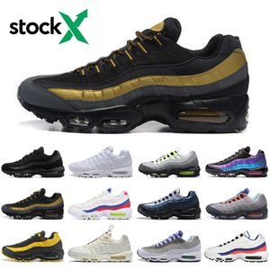 Hot 95 stock x 95s neon men running shoes triple white Throwback Future athletics outdoor mens trainers sports sneakers runners size 40-45