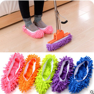 Creative Lazy Mopping Shoes copre Fashion Foot Socks Microfibra Mop Floor Cleaning Mophead Floor Polishing Pulizia pulitore di polvere TTA61