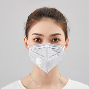 DHL libera Pronto! Folding Maschera con la respirazione Valve Anti-polvere maschere maschere con autoadescante Filtro In Sacchetti singoli
