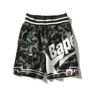 Bape Herren Shorts Stylist Mens-Sommer-Mode-Strand-Hosen der Männer Frauen Tarnmuster lose kurze Hosen