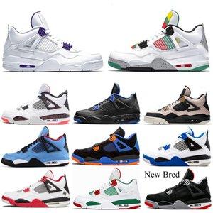 2020 Yeni varış 4 4s erkekler basketbol ayakkabıları neler Bekarlar Günü Alternatif Thunder SILT RED WINGS Yıldırım moda erkek ayakkabıları 7-13