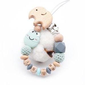 Nuovo simpatico cartone animato Mini Smile Frog Plus Faggio Elefante Clip Fai da te Catena ciuccio per bambini Personalizzabile Accessori porta nome giocattoli