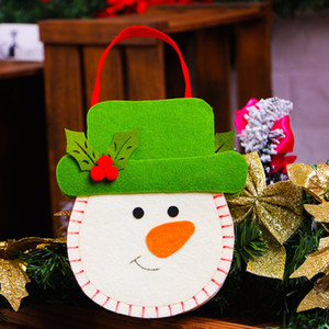 Gift Bag Candy Bag Nuovo Natale del pupazzo di neve del biscotto Fudge Candy Cookie Regalo Casa Creativa Decor