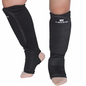 2 Çiftler Dövüş Sporları Yıkanabilir MMA Bezi Shin ve taban yastıkları Bacak Ayak Muhafızları Muay Thai Kickboks ProtectiveTraining Müsabakaların Shin Muhafızlar