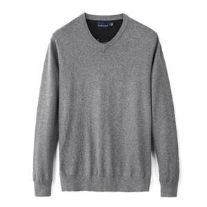 mens designer Fall Winter New Casual V-Neck Men's Polo Sweater Brand Sweater 100% Cotton Pullover Men's Sweaters Free hotKLJ