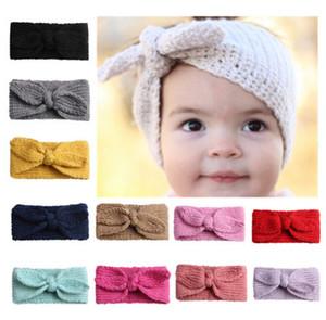 Hot mignon bébé tout-petits Fille Enfants Crochet Knit Knot Turban Bandeau Band Hair Turban