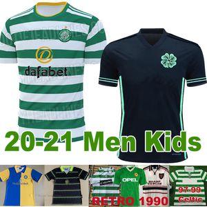 20 21 maillot de football Celtic 2020 2021 1998 Retro Leeds United 98 99 05 06 noir loin Man 1999 1990 1992 United maillot de football Irlande