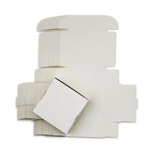 20 Boyutları Beyaz Craft Kağıt Hediye Kutusu, Karton El yapımı Sabun Kutusu, Packaging Mücevher Kutusu Boş Kağıt Karton Küçük