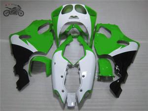 가와사키 닌자 ZX7R 96 97 98 99 00 01 02 03 검은 녹색 자전거 차체 용 정형 페어링 키트 ZX7R 1996년부터 2003년까지 세트