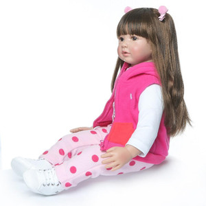 60 cm de alta calidad Reborn Toyler Princess Girl Doll Doll Silicone Vinyl Adorable LifeLike Baby Bonecas Muchacha Bebe Doll Reborn Menina Accesorios