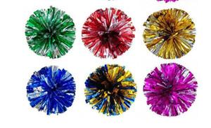 50g Pom Poms Amigoluk Tezahürat Ponpon Metalik Pom Amigoluk Ürünleri Birçok Renkler Sıcak satış seç