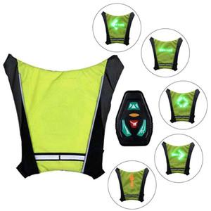 LED Kablosuz Bisiklet Yelek Emniyet Sinyal Işık kiralama çanta Emniyet Sinyal Işık Yelek Bisiklet Yansıtıcı Uyarı Yelekler çevirin çevirin LED