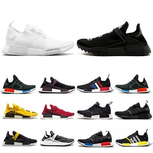 Adidas NMD human race shoes 2019 Solar Pack HU Inspiration TR Human Race Zapatillas para correr Pharrell Williams Heart Mind NERD Blanco Bold Core Negro Zapatillas deportivas 36-45