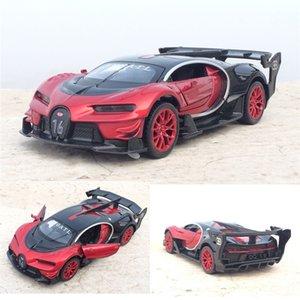 Çekme Geri ışık Çocuklar Oyuncak Hediye Ücretsiz Kargo T200110 ile 01:32 Ölçekli Bugatti Veyron Alaşım Döküm Araç Modeli Oyuncak Elektronik Araç