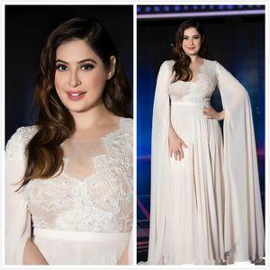 2020 Arabe Simple dentelle perlée robes de soirée Sheer cou en mousseline de soie des robes de bal bon marché fête officielle de demoiselle d'honneur Robes robes de soirée