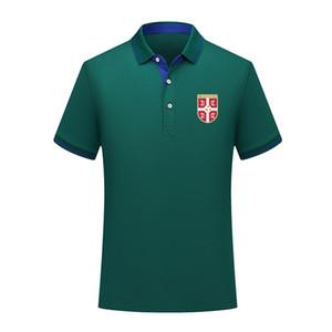 Tasarımcı sırbistan milli takım Polo Gömlek Kısa Kollu Soccer polos Moda Spor eğitimi Polos Futbol Tişört Jersey Erkek Polo Yaka tshirt