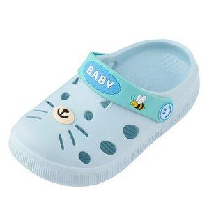 DihopeSummer Toddler Girls Boys Home Slippers Cartoon Non-slip Household Soft Bottom Baotou Sandals Fashion Childrens Hole Shoes