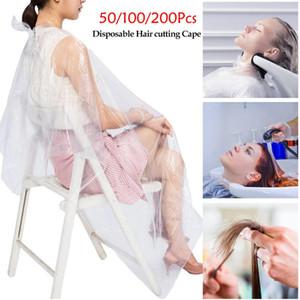 Einweg-Schürzen Haarfärbemitteln Cape Durable PE wasserdichte Schürze Hair Salon Haircut Emu Transparent Friseur Cloth