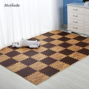 Wooden Puzzle Mat Foam 30*30*1cm Baby Play Mat Splicing Bedroom Soft Floor Interlocking Kids Rug Living Room Gym Crawling Carpet Y200527