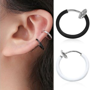 HOT! 1 Piece Fake Nose Ring Goth Punk Lip Ear Nose Clip On Fake Piercing Nose Lip Hoop Rings Earrings Golden Rose body jewelry