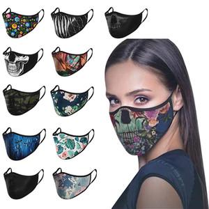 12 Máscaras Máscaras diseño de la cara de polvo se puede reutilizar Vida máscara protectora del cráneo de la planta de impresión XD23615