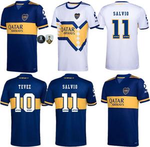 20 21 Boca Juniors blanco ausente DE ROSSI Fútbol 2020 2021 Boca Juniors en casa camisetas de color azul TEVEZ BENEDETTO Nández PAVON MAN