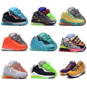 Новый Джеймс, что 17 будущее мужская баскетбольная обувь 17s South Beach Media Day Big Bang фиолетовый Династия Спорт размер 36-46
