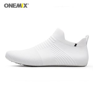 ONEMIX 2020 Men Indoor Walking Shoes slip-on White Inner Slippers high-elastic No Glue Environmentally Light Cool Man Yoga Shoes
