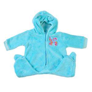 Keiumi 22-23 بوصة reborn baby doll clothes لصبي الأزياء الأزرق أفخم ملابس الطفل بيبي القصير دمية الملحقات